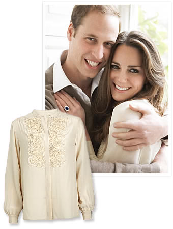 Kate & Prince William..snag the Engagement Blouse!