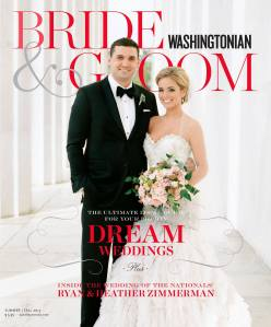 My bridal work featured in the 2013 Summer/Fall Issue of Washingtonian Bride & Groom
